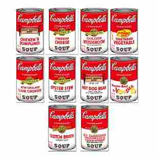 """Andy Warhol """"Soup Can Series 2"""" Limited Edition"""