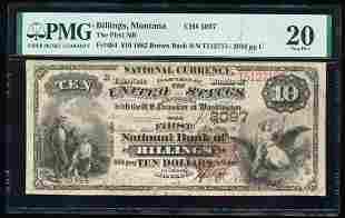 1882BB $10 NB of Billings, MT CH# 3097 National
