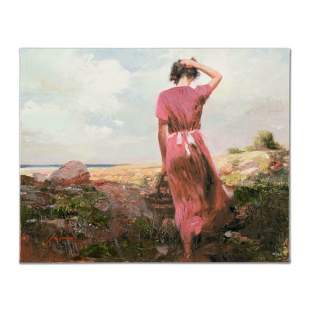 """Pino (1939-2010) """"Windy Day"""" Limited Edition Giclee on"""
