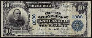 1902PB $10 Citizens National Bank of Lancaster, KY CH#