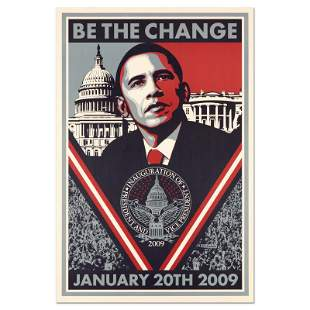 "Shepard Fairey ""Be the Change"" Lithograph"