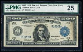 1918 $500 Federal Reserve Note New York Fr.1132-B PMG