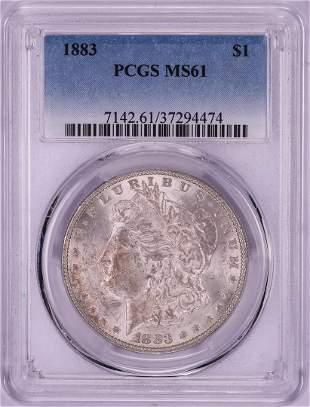 883 $1 Morgan Silver Dollar Coin PCGS MS61