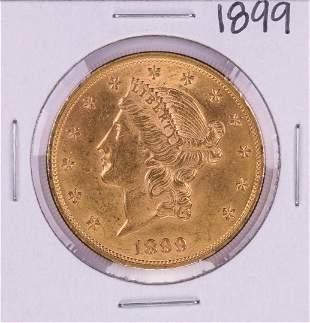 1899 $20 Liberty Head Double Eagle Gold Coin