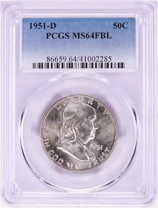 51-D Franklin Half Dollar Coin PCGS MS64FBL