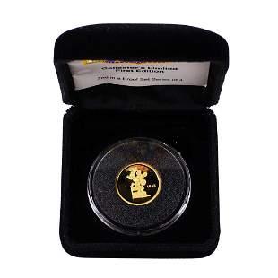 1989 Rarities Mint Hollywood Mickey 1/4 Oz. Gold Coin