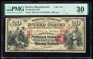 1875 $20 First Charter NB Boston, MA CH# 545 National