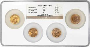 (4) World Gold Coins '27 South Africa '47 Swiss '14