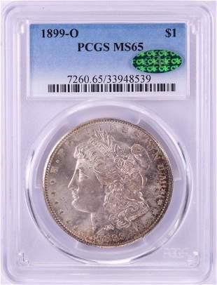 1899-O $1 Morgan Silver Dollar Coin PCGS MS65 CAC