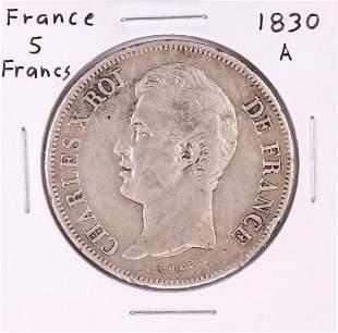 1830-A France 5 Francs Silver coin