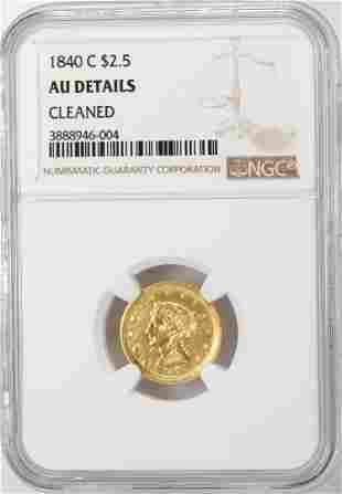 1840-C $2 1/2 Liberty Head Quarter Eagle Gold Coin NGC