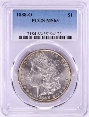 1888-O $1 Morgan Silver Dollar Coin PCGS MS63