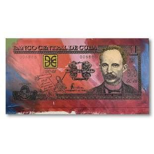 """Steve Kaufman (1960-2010) """"Cuban Money"""" Limited Edition"""
