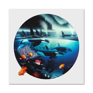 """Wyland """"Orca Journey"""" Limited Edition Cibachrome on"""