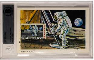 Rare Neil Armstrong Signed Autograph on Post Card
