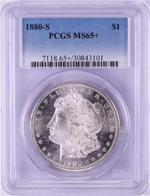 1880-S $1 Morgan Silver Dollar Coin PCGS MS65+