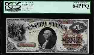 1880 $1 Legal Tender Note Fr.28 PCGS Very Choice New