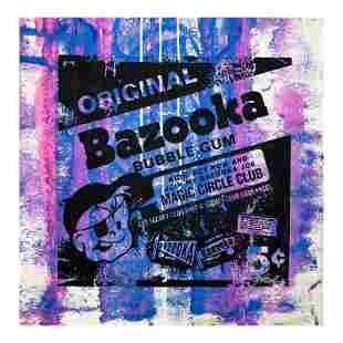 "Rodgers ""Bazooka Joe"" Original Mixed Media on Canvas"