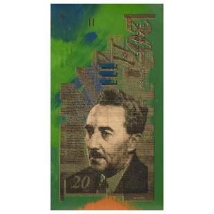 "Steve Kaufman (1960-2010) ""Israel Money (20)"" Original"
