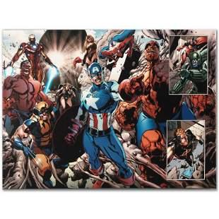 "Marvel Comics ""Earthfall #2"" Limited Edition Giclee on"