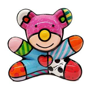"""Romero Britto, """"Summer Bear"""" Hand Signed Limited"""