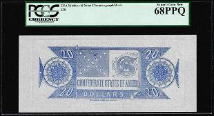 $20 Chemicograph Back Confederate Currency Note PCGS