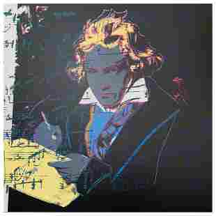 """Andy Warhol """"Beethoven"""" Limited Edition Serigraph on"""
