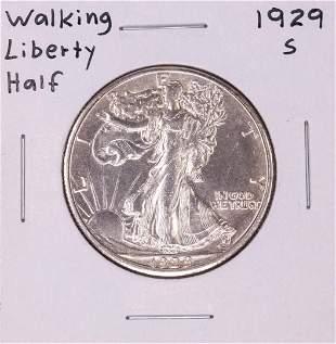 1929-S Walking Liberty Half Dollar Coin