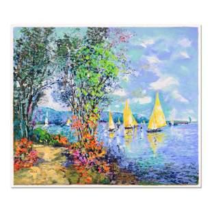 "Polak (1922-2008) ""Lakeshore Fishing"" Limited Edition"