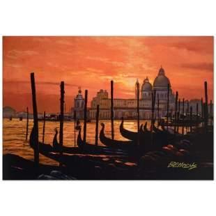 """Behrens (1933-2014) """"Sunset on The Grand Canal 2"""""""