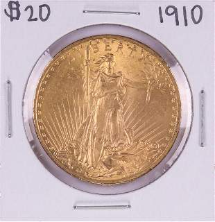 1910 $20 St. Gaudens Double Eagle Gold Coin
