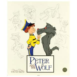 """Chuck Jones """"Peter and The Wolf Character Sketches"""""""