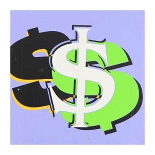 """Steve Kaufman (1960-2010) """"Dollar Sign (Purple)"""""""