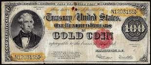 1922 $100 Gold Certificate Note