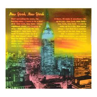 """Ringo"" Daniel Funes ""New York, New York"" Original"