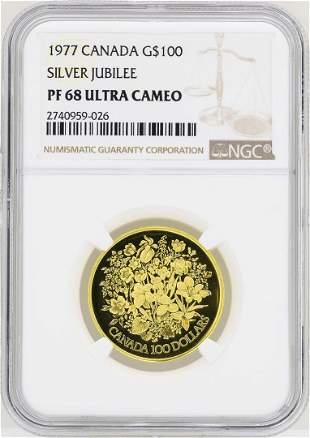 1977 Canada $100 Silver Jubilee Commemorative Gold Coin