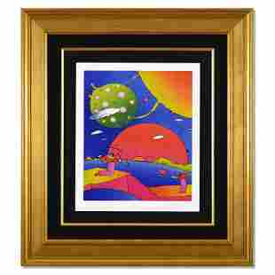 """Peter Max """"Year 2050 II"""" Limited Edition Lithograph on"""