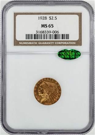1928 $2 1/2 Indian Head Quarter Eagle Gold Coin NGC