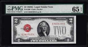 1928G $2 Legal Tender Note Fr.1508 PMG Gem Uncirculated
