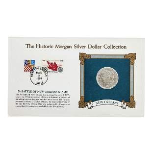 1889-O $1 Morgan Silver Dollar Coin with 5C Centennial