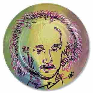 """Steve Kaufman (1960-2010) """"Einstein"""" Original Hand"""