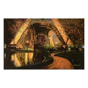"Behrens (1933-2014) ""Twilight At The Eiffel Tower"""
