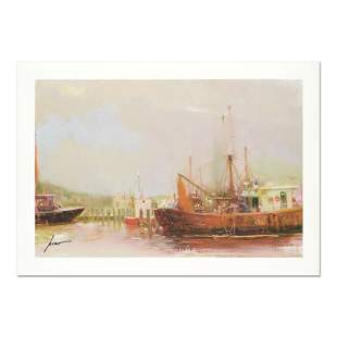 """Pino (1939-2010) """"At The Dock"""" Limited Edition Giclee"""