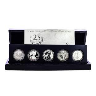 2011 American Silver Eagle 25th Anniversary Coin Set w/
