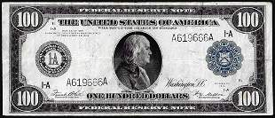 1914 $100 Federal Reserve Note Boston