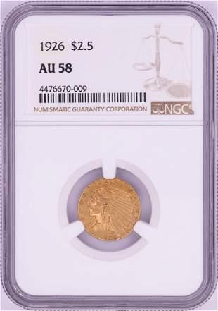 1926 $2 1/2 Indian Head Quarter Eagle Gold Coin NGC