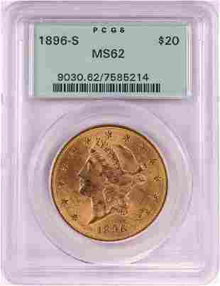 1896-S $20 Liberty Head Double Eagle Gold Coin PCGS