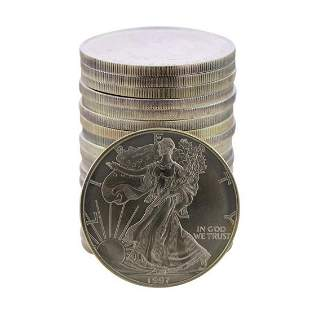 Roll of (20) Brilliant Uncirculated 1997 $1 American
