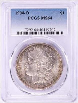 1904-O $1 Morgan Silver Dollar Coin PCGS MS64 Nice