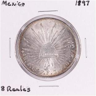 1897 Mexico 8 Reales Silver Coin
